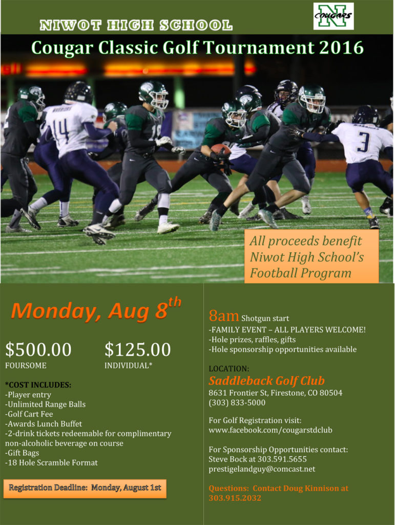 Niwot High School Football Golf Tournament